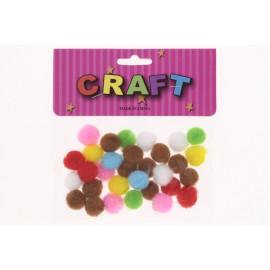 Craft dekor pom-pom vegyes csomag