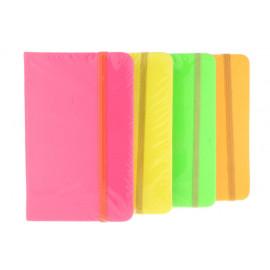 Notesz A/6 gumis neon színű