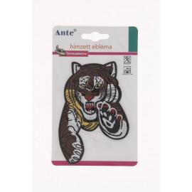 Ante felvarró/vasalható nagy méretű tigris