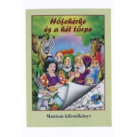 Kifestőkönyv matricával, Hófehérke és a hét törpe