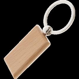 Kulcstartó fa téglalap alakú