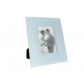 Képkeret 10x15 cm fotó, világoskék üveg