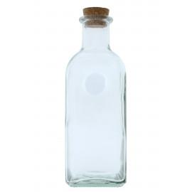 Üveg parafadugóval szögletes 500ml