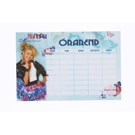 Órarend, Hannah Montana