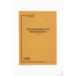 Nyomell Fizetővendéglátó vendégkönyv D.VV.1250/b