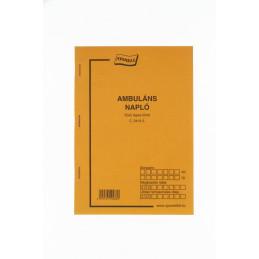 Nyomell ambuláns napló C.3410-5 A/5 50X2 lap