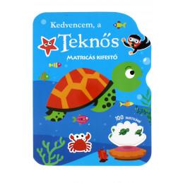 Kedvencem a teknős matricás kifestő
