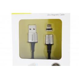 Baseus 2,4A Micro kábel USB/iPhone mágneses töltőfej 2m