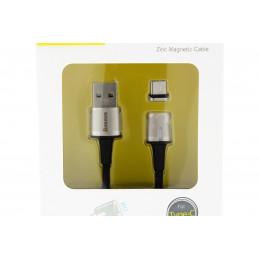 Baseus 2,4A Micro USB kábel, mágneses C típusú 3A 2m
