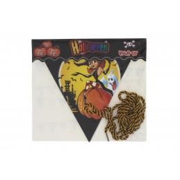 Halloween háromszög alakú girland zászló 2,8m, boszorkányos