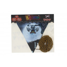 Halloween háromszög alakú girland zászló 2,8m, denevéres
