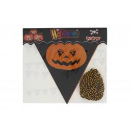Halloween háromszög alakú girland zászló 2,8m, tökök
