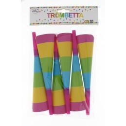 Papír trombita színes 6db/csomag 23cm