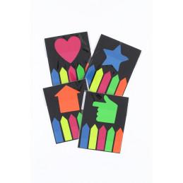 Post-it jelölőcímke neon színek 5 nyíl+1 figura