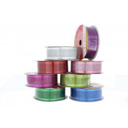 Díszszalag műanyag, drótos formázható 2,5cmx2,7m