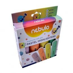 Nebulo Szövegkiemelő készlet 2-5mm pasztell szín