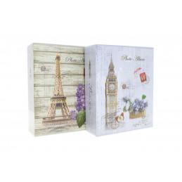 Fotóalbum tokban 10x15cm 40 kép, London/Párizs