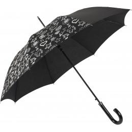 Színváltó automata, mintás esernyő, fekete