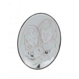 Ezüstözött ovális kép 5,4x7,1cm