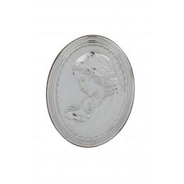 Valenti & Co ezüstözött ovális kép 10,2x13cm