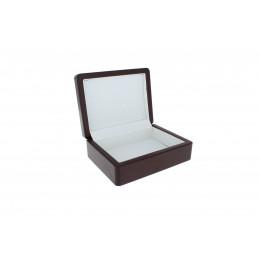 Ezüstözött ékszeresdoboz 14,5x11x5,4cm