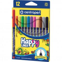 Centropen Happy liner filctoll készlet 12 szín