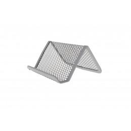 Névjegykártyatartó asztali fémhálós 10x8cm