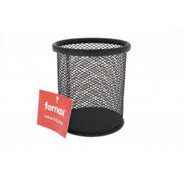 Fornax fémhálós tolltartó pohár, fekete
