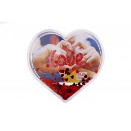 Hógömb szív 1 képes