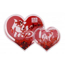Hógömb szív 2 képes