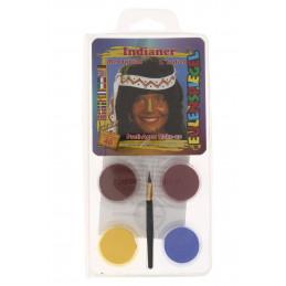 Kreatív arcfesték 4 szín+ecset indián