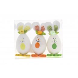 Húsvéti dekoráció lány nyuszi 3db/csomag