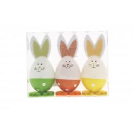 Húsvéti dekoráció fiú nyuszi 3db/csomag