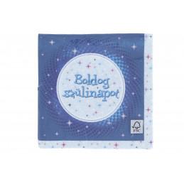 Szalvéta Boldog Szülinapot kék 33x33cm 16db