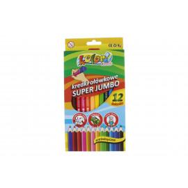 Kolori színes ceruza jumbó 12 db + hegyező