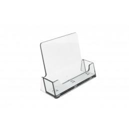 Névjegykártya tartó asztali DP-1139, áttetsző/zöld