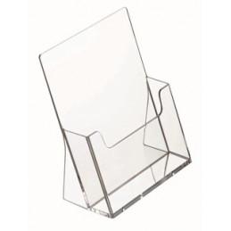 Prospektustartó A/5 átlátszó műanyag