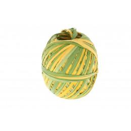 Raffia tekercs középzöld-sárga