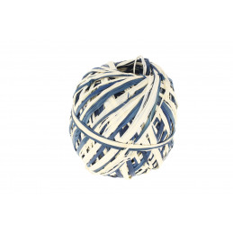 Raffia tekercs kék-fehér