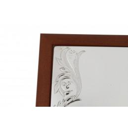 Valenti & Co. ezüstözött ékszeresdoboz 22,7x16,5x5,3cm