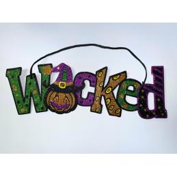 Halloween WICKED felirat