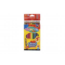 Colorino Kids színes ceruza 12+1 db Hegyezővel