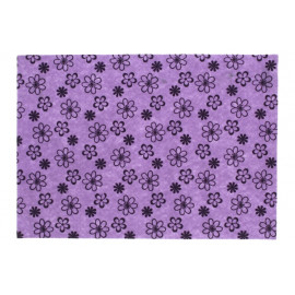 Filclap mintás A/4 lila alapon virágos